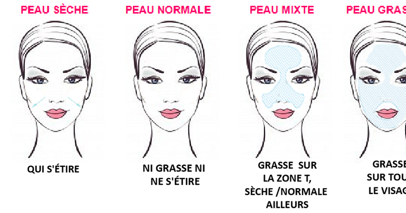 Image result for differents type de peau