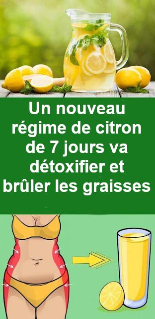 regime detox citron 7 jours